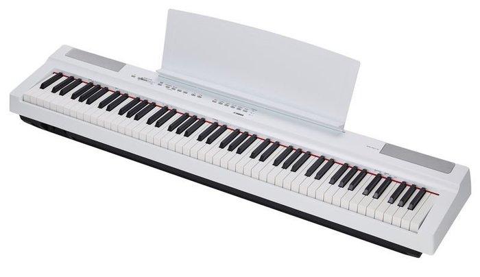 造韻樂器音響-JU-MUSIC- YAMAHA P125 88鍵 白色 電鋼琴 含 琴椅 譜板 延音踏板 P-125