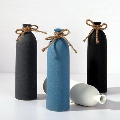 熱賣創意小口陶瓷花瓶擺件新中式家居客廳干花插花器家用軟裝飾品擺設#擺件#陶瓷#北歐