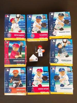 ~金塊~MLB大聯盟 積木人偶 公仔 玩具 組裝DIY 棒球 OYO Sports MLB 官方 公仔