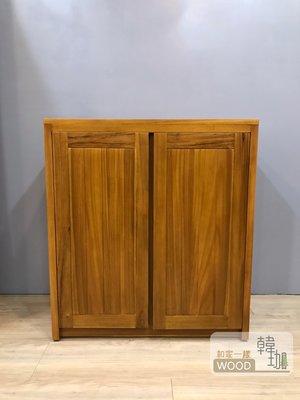 [韓珈柚木wood] 伯尼玄關柚木鞋櫃 81公分 兩門柚木置物櫃 柚木餐邊櫃 印尼柚木實木家具