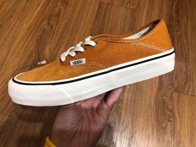 VANS AUTHENTIC SF 南瓜橘 大地橘 帆布 後跟可踩 休閒鞋 情侶鞋 H-26105
