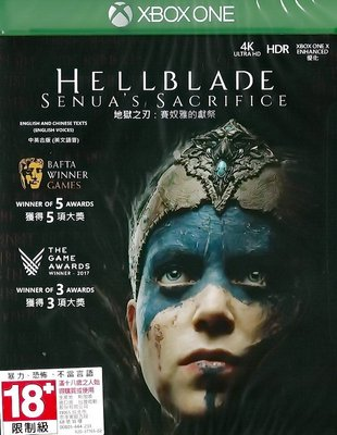 【全新未拆】XBOX ONE 地獄之刃 賽奴雅的獻祭 HELLBLADE SENUAS SACRIFICE 中文版 台中