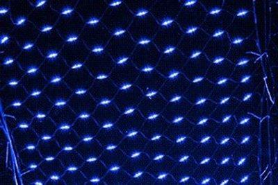 高傳真音響【LED網燈-藍色】聖誕節裝飾品 裝飾燈 窗簾燈 彩燈串燈