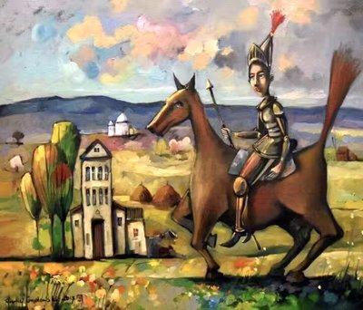 【閒雲雅士】西洋畫作 (#7) — Andrzej Gudanski 油畫 (Don Quixote 唐吉軻德)