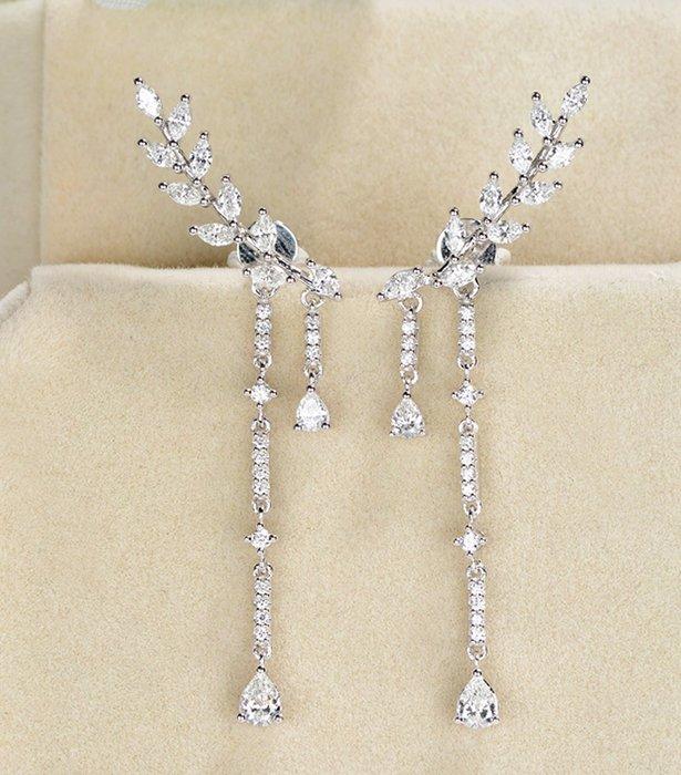 18K金小奢華鑽石耳環