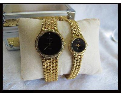 二手舖~ NO.11 高級時尚瑞士雅哥ACCORD男女對錶 原價6660元優惠價1對只賣1600元 庫存全新品