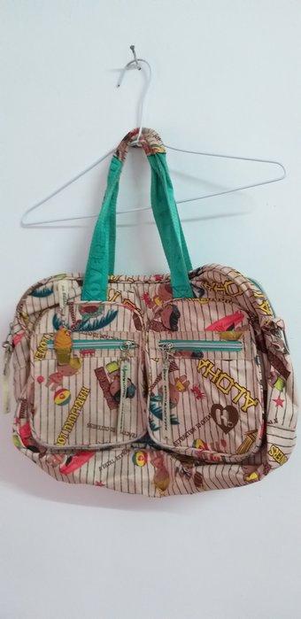 熱帶風情印象風大背側包包,實品很美,絕版包
