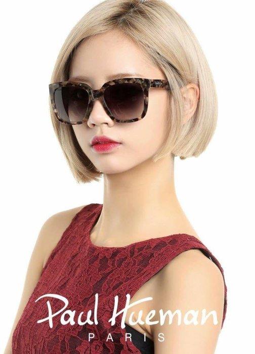 精光堂眼鏡 Paul Hueman 韓國熱銷品牌 玳瑁色大方框太陽眼鏡 PHF1035D