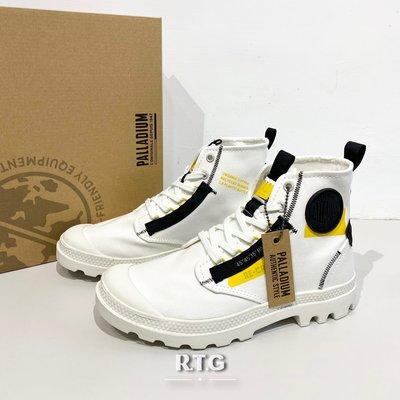 【RTG】PALLADIUM PAMPA HI RE-CRAFT 白黑黃 靴型 帆布 貼布感 男女 77220-116