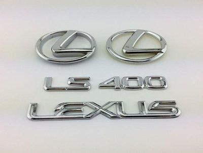 Lexus 淩志車標新 淩誌LS400車新標 LEXUS英文新字標 套標 前後標誌y