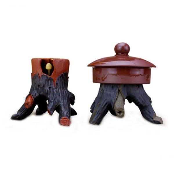5Cgo【茗道】含稅會員有優惠 38182853556 手工製作紫砂樹樁壺蓋托蓋置蓋托蓋承茶寵蓋擱茶玩茶盤配件