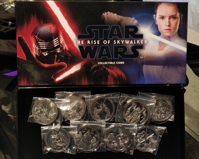 限量版星球大戰紀念幣 Star Wars The Rise of Skywalker Collectible Coins 一套九個