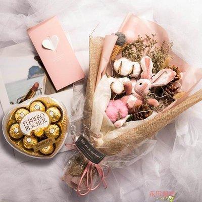 創意生日禮物女生閨蜜香皂花束禮盒錶白送老師女友教師節禮物浪漫