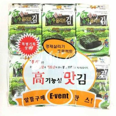 [韓國進口]100%韓式海苔【韓國原裝天惠海苔】1袋12包