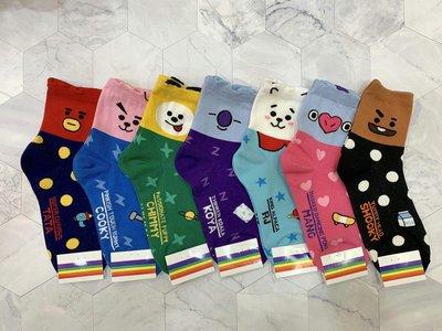 韓國直送 超可愛宇宙明星BT21造型女襪子 防彈少年團 時尚 正韓 短襪 腳踝造型襪 運動襪 學生襪