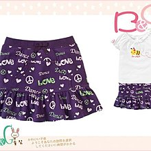【B& G童裝】正品美國進口GYMBOREE字樣LOVE紫色短裙9yrs