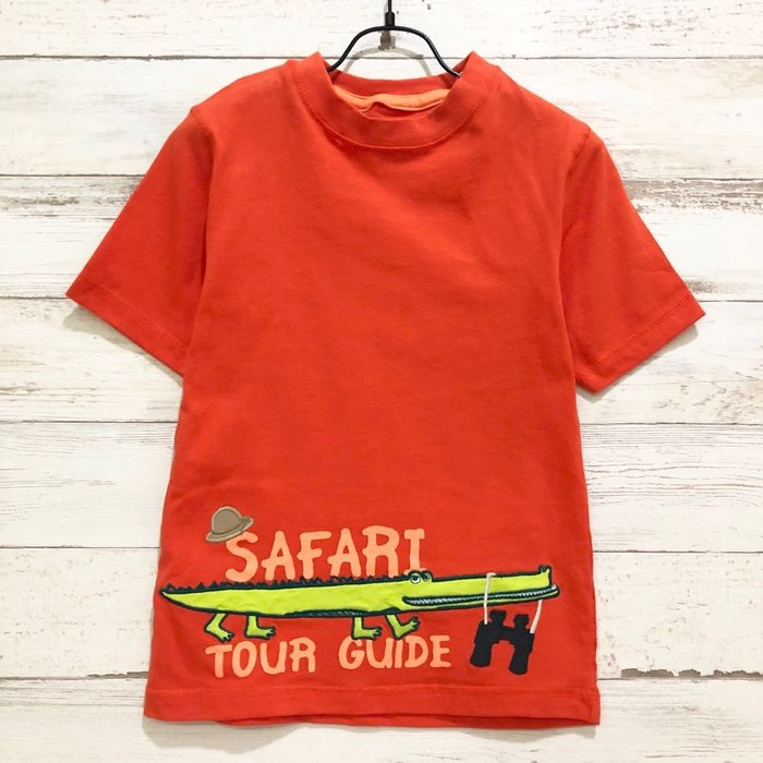 Maple麋鹿小舖 美國購買童裝品牌 GYMBOREE  男童橘色鱷魚圖樣短T * ( 現貨4T )