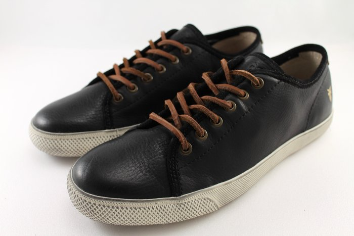 INDiCE ↗ Frye Chambers 男性繫帶低筒皮革休閒鞋 時尚黑