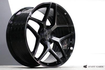 AG M650 19吋旋壓鋁圈 黑底染黑透面 8.5 9.5 5X120 BMW 前後配 F10 F30 F36