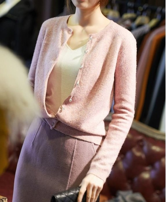 花粉羊毛針織開衫 1143   米蘭風情
