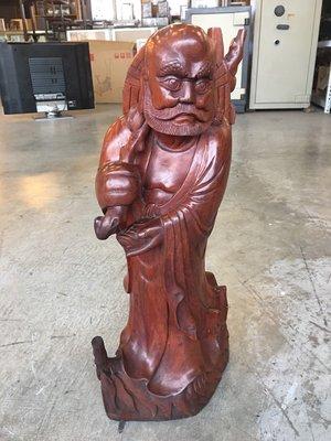 【全國二手傢俱館】藝術雕刻品 神像 木製人像 多款木雕人像/柚木 花梨木 雞翅木 實木/花瓶 藝術畫作/二手家具家電