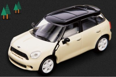 7-11 CITY CAFE MINI Cooper S模型車迴力車 黑頂米黃車身款