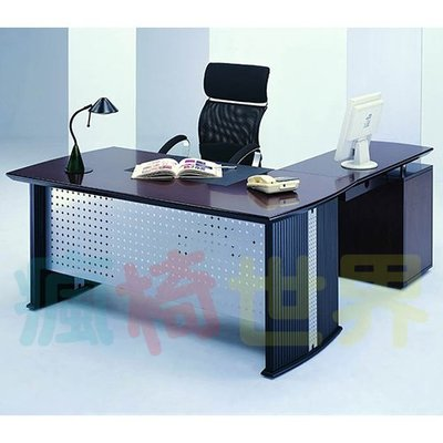 《瘋椅世界》OA辦公家具 全系列 高級木製 主管桌 EN-286 (董事長桌/老闆桌/辦公桌/工作桌)需詢問