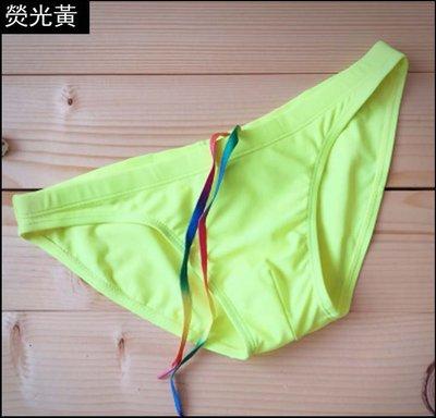 【Justyle】小三角純色泳褲 比基尼款性感低腰日光浴沙灘泳褲 男士緊身泳褲YG114