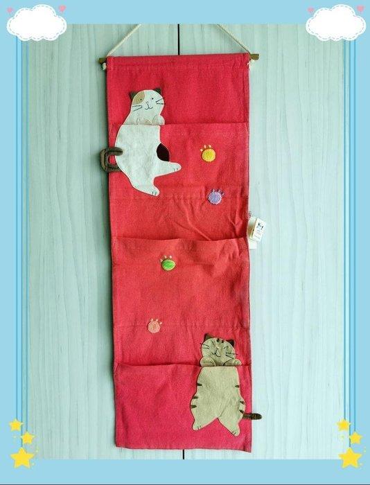 🏆 【日本CARA卡拉貓】🏆卡拉貓可愛壁掛三層物架,寬25*高70cm