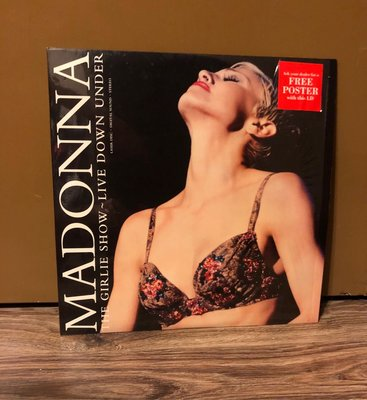 絕版 Madonna ~ The girlie show - live down under 美國版 LD 值得收藏 (Made in USA)