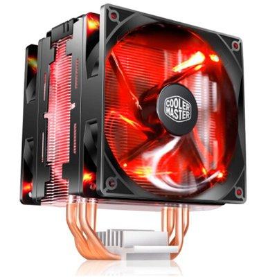 尊暴雪T400 Pro CPU散熱器4熱管雙平臺紅光1151 i9 2066AMD