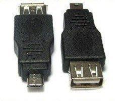 富廉網  micro USB公轉USB母頭 手機轉接頭 USB母轉micro 5pin公轉接口