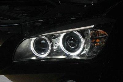 威鑫汽車精品 BMW E84-X1 前期改小改款後期大燈總成LED光圈HID版大燈專用 一組32000元