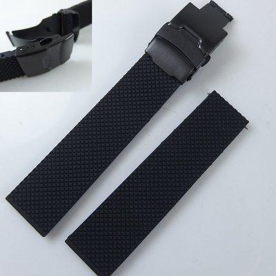 【錶帶家】代用Oris BC矽膠錶帶膠帶PVD不銹鋼黑色錶扣可裝21mm22mm23mm24mm菱格胎紋 S3 moto