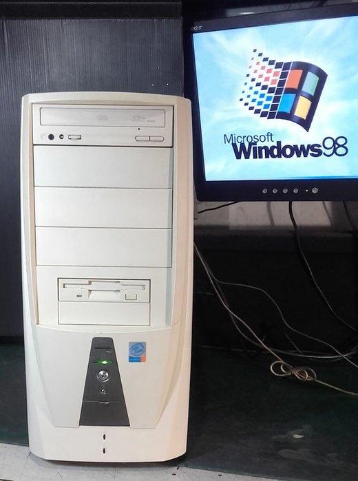 【窮人電腦】跑Win98系統!自組華碩Win98工業主機出清!雙北桃園可免費親送!外縣可寄!