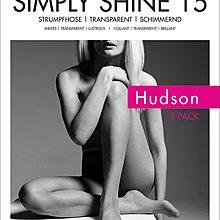 °☆就要襪☆°全新德國品牌 Hudson SIMPLY SHINE 透明光澤絲襪(15DEN)2雙入