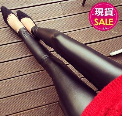 【JD Shop】韓版OL百搭修身超顯瘦高腰九分薄款仿皮褲 內搭褲 PU仿皮打底褲