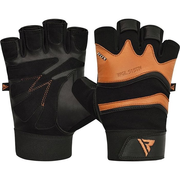 【線上體育】RDX GYM GLOVE LEATHER S15 TAN RDX009