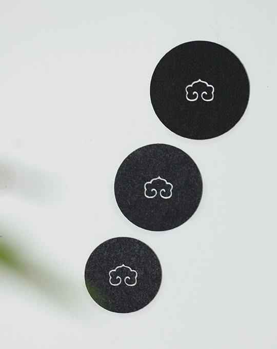 茶杯墊茶壺墊吸水平整養壺墊茶道布藝茶具可以堂普洱茶苑(大9mm)