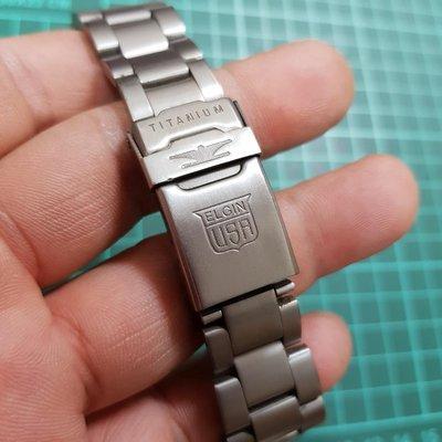20mm 鈦金屬 TITANIUM 平接 通用 錶帶 老錶 男錶 機械錶 非 CK SEIKO G08 FOSSIL TELUX CITIZEN TITONI