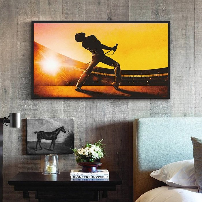 INHUASO 癮|画|所 電影波西米亞狂想曲皇后合唱團搖滾音樂掛畫家居酒吧禮品工作室裝飾畫美式經典傳奇人物掛畫橫幅版畫