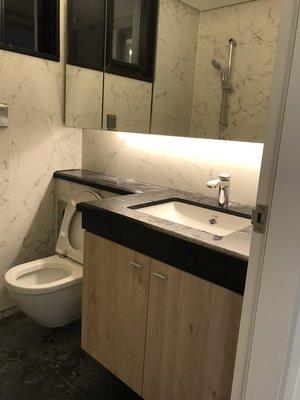 台中系統櫃--經典木紋發泡板桶身系統浴下櫃 { 湯姆 完全防水發泡板系統櫃 } 客製化