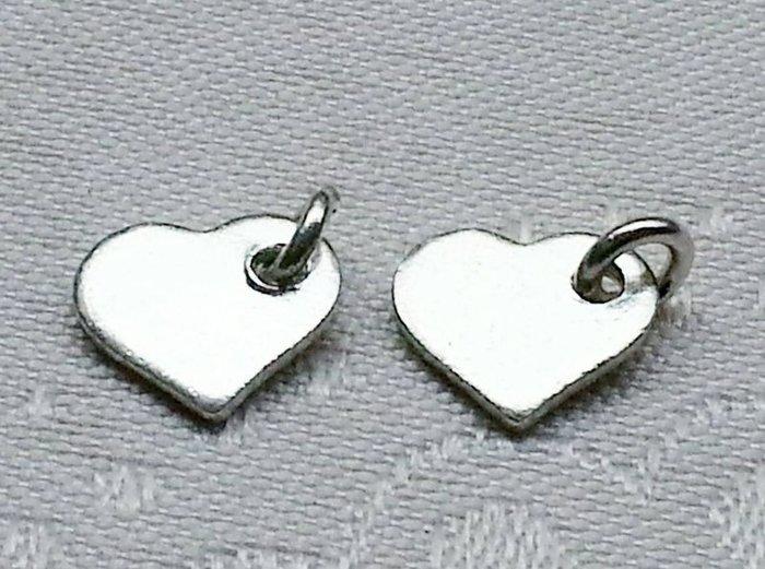嗨,寶貝手創飾品工作室~ 925純銀飾 DIY串珠 ~心形帶環造形純銀 2~客製化
