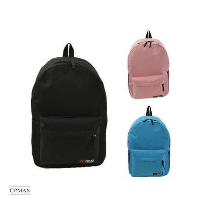 CPMAX 純色雙肩包 多功能大容量 學生書包 男款 女款 雙肩包 休閒後背包 純色肩背包 尼龍背包 旅行【O50】