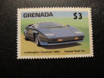 【大三元】美洲郵票-格瑞那達郵票1984年發行-車-新票1全-原膠(50S)