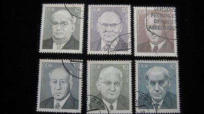【大三元】歐洲郵票-5.德國郵票-名人-銷戳票6枚(3)