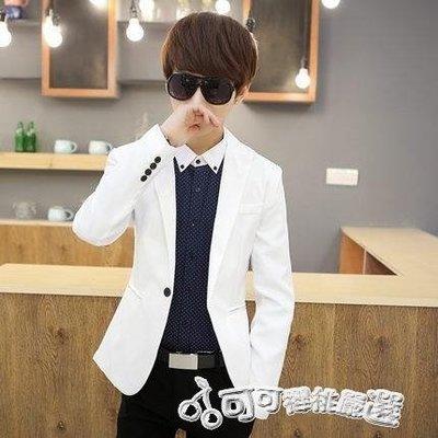 西裝外套 春夏季發型師上衣工作服韓版修身男版小西裝休閒西服外套