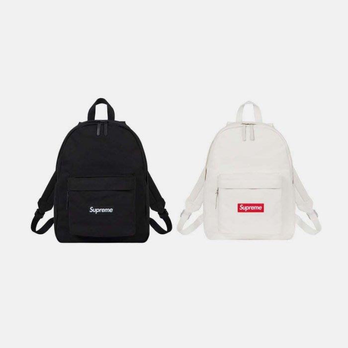 沃皮斯§ Supreme Canvas Backpack FW20 黑/白 後背包 帆布 SUP121/SUP122