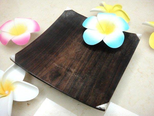 Y【永晴峇里島】巴里島大木製鑲貝殼盤,增添異國風味,居家,民宿,飯店都好用-盤6