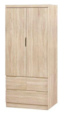 【南洋風休閒傢俱】精選時尚衣櫥 衣櫃 置物櫃 拉門櫃 造型櫃設計櫃- 凱薩原切橡木3*6尺衣櫥 CY188-36